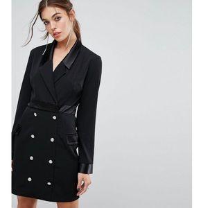 NWT Black Blazer Dress